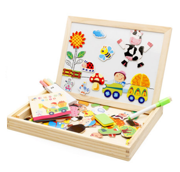 Wooden jigsaw puzzle baby blocks