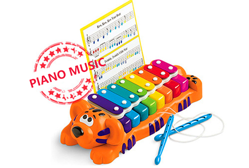 Children's cartoon piano